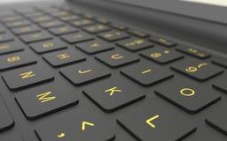 Concepto del ordenador del teclado del ordenador portátil Imagen de archivo libre de regalías