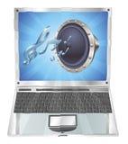 Concepto del ordenador portátil del icono del Presidente Imagenes de archivo