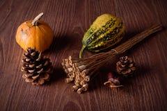 Concepto del otoño en fondo de madera Imagen de archivo