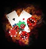 Concepto del póker imágenes de archivo libres de regalías