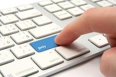 Concepto del pago electrónico Fotos de archivo libres de regalías