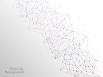 Concepto del papel pintado del diseño del fondo de la molécula Fotografía de archivo libre de regalías