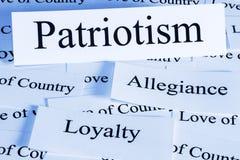 Concepto del patriotismo imagen de archivo