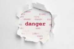 Concepto del peligro imagenes de archivo