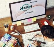 Concepto del pensamiento creativo del diseño del desarrollo de la inspiración imágenes de archivo libres de regalías