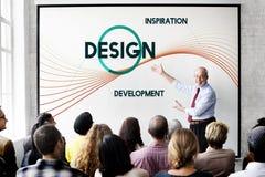 Concepto del pensamiento creativo del diseño del desarrollo de la inspiración imagenes de archivo