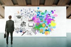Concepto del pensamiento creativo y analítico Foto de archivo libre de regalías