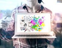 Concepto del pensamiento creativo y analítico Fotografía de archivo libre de regalías