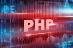 Concepto del PHP Fotografía de archivo libre de regalías