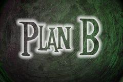 Concepto del plan b fotografía de archivo