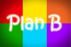 Concepto del plan b foto de archivo libre de regalías