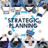 Concepto del plan de actuación del proceso de planeamiento estratégico imagenes de archivo