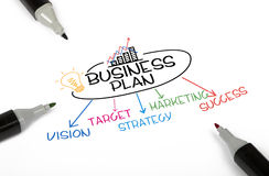 Concepto del plan empresarial Foto de archivo