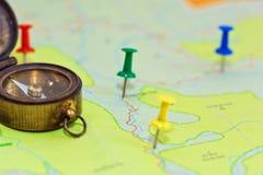 Concepto del planeamiento de la ruta Imagen de archivo