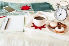 Concepto del planeamiento del Año Nuevo del tiempo de desayuno Foto de archivo