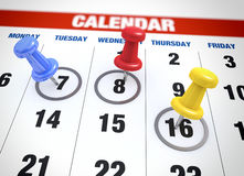 Concepto del planeamiento del calendario Imagen de archivo libre de regalías