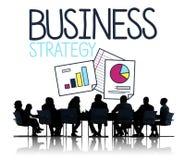 Concepto del planeamiento del plan de la estrategia empresarial fotos de archivo
