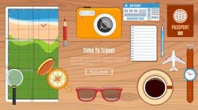 Concepto del planeamiento del viaje Imagen de archivo libre de regalías
