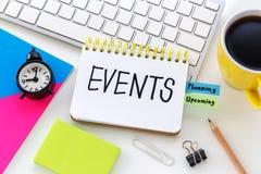 Concepto del planeamiento del evento imagen de archivo