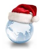 Concepto del planeta de la Navidad foto de archivo