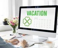 Concepto del planificador del tiempo de las vacaciones de primavera Imagenes de archivo