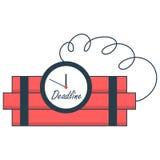 Concepto del plazo de la bomba de relojería Fotografía de archivo