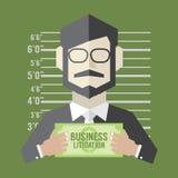 Concepto del pleito del negocio Imagen de archivo