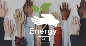 Concepto del poder de la planta de la industria del ambiente de Eletric de la energía Fotos de archivo