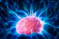Concepto del poder mental con los rayos ligeros abstractos foto de archivo