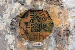 Concepto del préstamo del estado Imagen de archivo