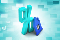 Concepto del préstamo hipotecario libre illustration