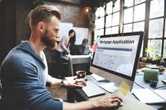 Concepto del préstamo hipotecario de la solicitud de hipoteca fotografía de archivo