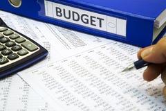 Concepto del presupuesto Imagenes de archivo