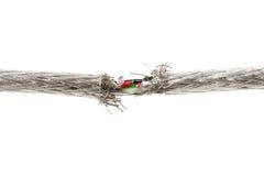 Concepto del problema de la garantía con el alambre rasgado Foto de archivo