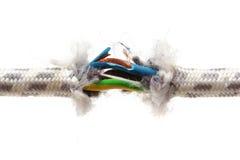Concepto del problema de la garantía con el alambre rasgado Imagen de archivo