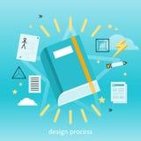 Concepto del proceso de diseño Fotos de archivo libres de regalías