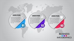 Concepto del proceso de Infographics del negocio Cronología con 3 opciones, círculos Vector los elementos de la plantilla para el libre illustration