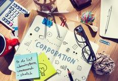 Concepto del progreso de la corporación del márketing foto de archivo libre de regalías