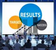 Concepto del progreso de la estrategia del planeamiento del éxito de la blanco de los resultados imagenes de archivo