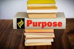 Concepto del propósito en una imagen foto de archivo