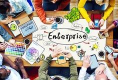 Concepto del proyecto del negocio de la sociedad de Enterprise Company imagenes de archivo