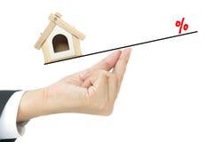 Concepto del préstamo hipotecario Foto de archivo