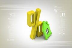 Concepto del préstamo hipotecario Foto de archivo libre de regalías