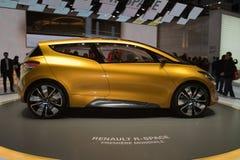 Concepto del R-Espacio de Renault - demostración de motor de Ginebra 2011 Fotografía de archivo