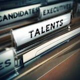 Concepto del reclutamiento de los talentos Fotos de archivo