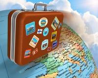 Concepto del recorrido en todo el mundo Fotos de archivo libres de regalías
