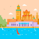 concepto del recorrido Viaje en Marruecos, estudio del país y su cultura, tradiciones, vistas, aprende sobre la historia de Imagenes de archivo