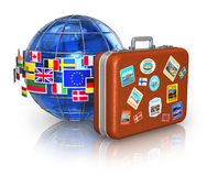 Concepto del recorrido y del turismo ilustración del vector