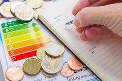 Concepto del rendimiento energético Foto de archivo libre de regalías