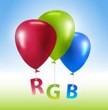 Concepto del RGB de los globos Fotografía de archivo